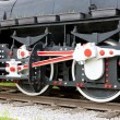 Detail of steam locomotive - Stock Photo