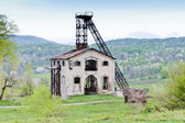 Old mining tower near Resavica, Serbia — Stock Photo