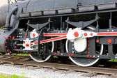 Detail of steam locomotive — Stock Photo
