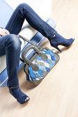 青い靴とハンドバッグ — ストック写真