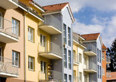 New housing estate, Czech Republic — Stock Photo