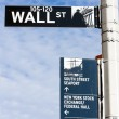 Wall Street Sign - Stock Photo
