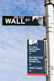 Wall Street Sign — Stock Photo