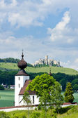 Church in Zehra and Spissky Castle — Stock Photo