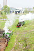 Steam freight trains, Kostolac, Serbia — Stock Photo