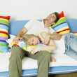 Couple on sofa — Stock Photo #4886046