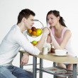 Couple during breakfast — Stock Photo #4886096
