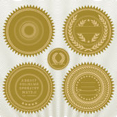 Vector reward seals — Stock Photo
