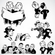 Stock Photo: Vector Vintage Businessmen and Salesmen