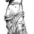 Vector Venus de Milo Sketch — Stockfoto