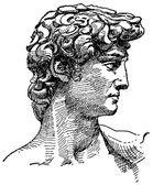 Vector Michelangelo's David — Stock Photo