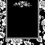 Vector Black Twig Frame — Stock Photo #3481813
