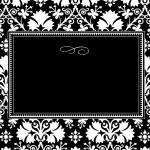 Vector Black Long Clover Frame — Stock Photo #3481844