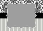 Vector Damask Stripe Frame — Stock Photo