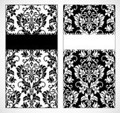 Vector Damask Frame Set — Stock Photo