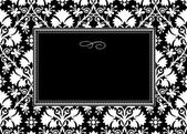 Vector Black Long Clover Frame — Stock Photo