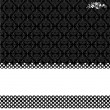 Vector Black Damask and Dot Background — Stock Photo #3498364