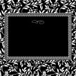 Vector Ornate Ivy Frame — Stock Photo