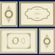 Vector Ornate Gold Frame Set — Stock Photo