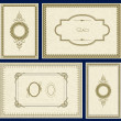 Vector Ornate Gold Frame Set — Stockfoto