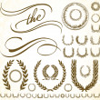 Stock Photo: Vector Ornament and Wreath Set