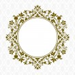 Vector Gold Floral Frame — Stock Photo