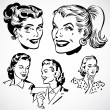 Vector Vintage Women — Stockfoto
