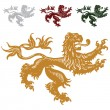 Royalty-Free Stock Photo: Vector Royal Lions Set