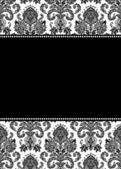 Vector Tall Damask Frame — Stock Photo