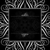 Vector Black Ornament Frame — Stock Photo