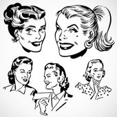 Vector Vintage Women — Stock Photo