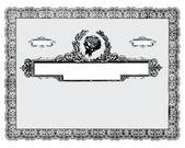 Fronteira de certificado vintage de vetor — Fotografia Stock