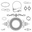 Vector Swirl Ornament and Frame Set - Stockfoto