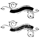 Vector Scroll and Distressed Scroll — Stock Photo