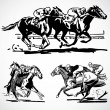 Vector Vintage Horse Racing Graphics — Stock Photo