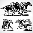 Vector Vintage Horse Racing Graphics — Stock Photo #3521765