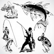 Vector Vintage Fishing Graphics — Stock Photo #3521767