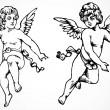 Vector Cupids — Stock Photo