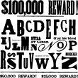 Vector Ransom Note Letters — Foto Stock