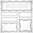Royalty-Free Stock Photo: Vector Ornate Frame Set