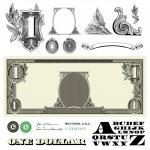 Постер, плакат: Vector Miscellaneous Money Ornaments