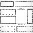 Vector Ornate Frame Set — Foto Stock