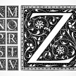 Vector Ornate Alphabet K-Z - Photo