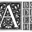 Vector Ornate Alphabet A-I - Photo
