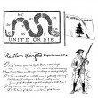 Vector American Revolution Illustrations — Stock Photo