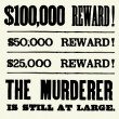 Vector Reward Poster Type — Foto de Stock