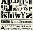 Vector Old Type and Alphabet - Stock Photo