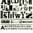 Vector Old Type and Alphabet — Stok fotoğraf