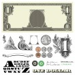 Stock Photo: Vector Money and Coins