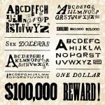 Постер, плакат: Retro Poster Fonts